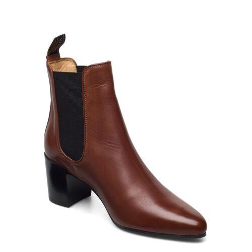 NOVITA Rom Shoes Boots Ankle Boots Ankle Boot - Heel Braun NOVITA Braun 39,38