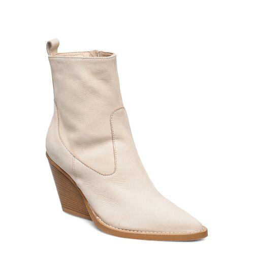 NUDE OF SCANDINAVIA Kim Shoes Boots Ankle Boots Ankle Boot - Heel Creme NUDE OF SCANDINAVIA Creme 38,39,37,40,41,36