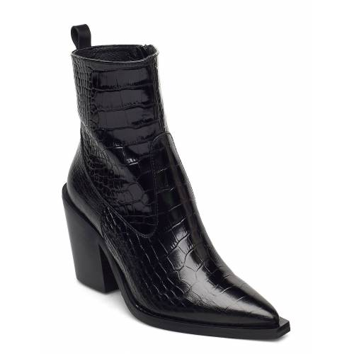 NUDE OF SCANDINAVIA Unni Shoes Boots Ankle Boots Ankle Boot - Heel Schwarz NUDE OF SCANDINAVIA Schwarz 38,40,39,41