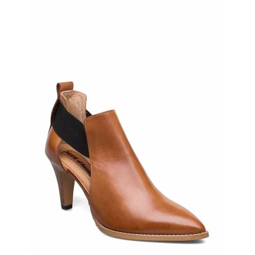 NUDE OF SCANDINAVIA Tuva Shoes Boots Ankle Boots Ankle Boot - Heel Braun NUDE OF SCANDINAVIA Braun 40,39,37,38,41,36,42