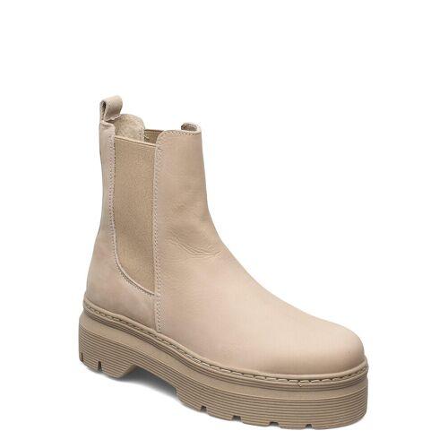 PAVEMENT Viola Nubuck Shoes Boots Ankle Boots Ankle Boot - Flat Beige PAVEMENT Beige 40,38,41