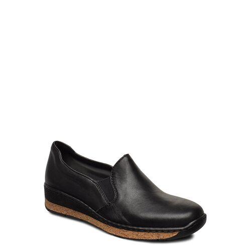 Rieker 59766-00 Loafers Flache Schuhe Schwarz RIEKER Schwarz 39,38,40,37,41,36,42