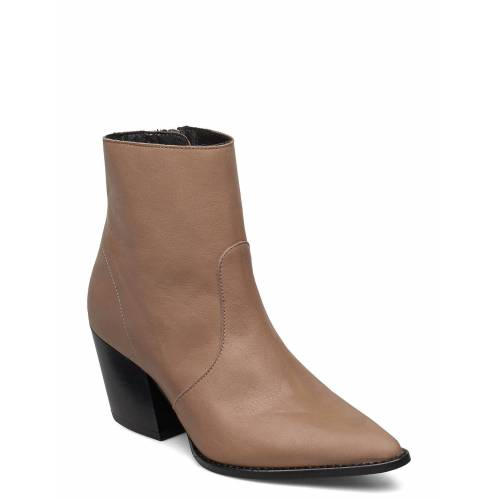 Selected Femme Slfjulie Leather Boot B Shoes Boots Ankle Boots Ankle Boot - Heel Braun SELECTED FEMME Braun 39,36,40,41