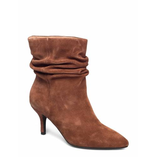 SHOE THE BEAR Agnete Slouchy Shoes Boots Ankle Boots Ankle Boot - Heel Braun SHOE THE BEAR Braun 38,39,40