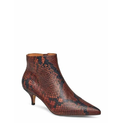 SHOE THE BEAR Sara Boot Snake Shoes Boots Ankle Boots Ankle Boot - Heel Braun SHOE THE BEAR Braun 38,37