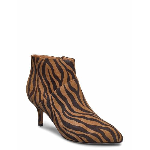 SHOE THE BEAR Stb-Valentine S Zebra Shoes Boots Ankle Boots Ankle Boot - Heel Braun SHOE THE BEAR Braun 37,39,40,38,36,41