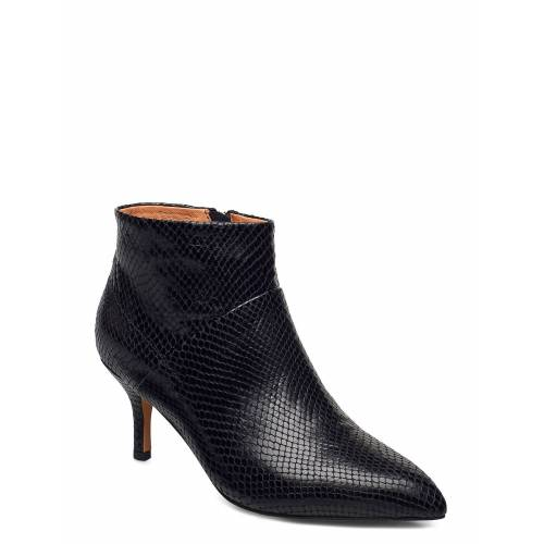 SHOE THE BEAR Stb-Valentine Zip Reptile Shoes Boots Ankle Boots Ankle Boot - Heel Schwarz SHOE THE BEAR Schwarz 38,39,36,37,41,40