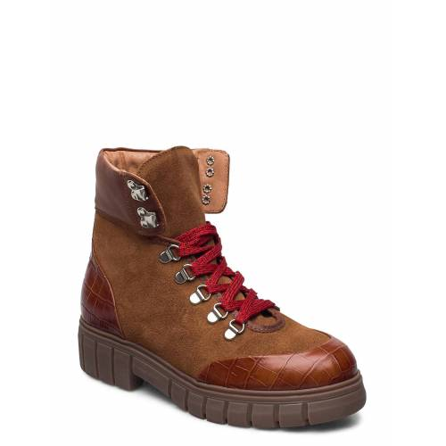 SHOE THE BEAR Stb-Rebel Hiker Croc Shoes Boots Ankle Boots Ankle Boot - Flat Braun SHOE THE BEAR Braun 39,38,37,36,41