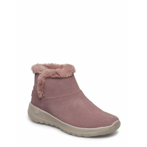 Skechers Womens On-The-Go Joy - Bundle Up Shoes Boots Ankle Boots Ankle Boot - Flat Pink SKECHERS Pink