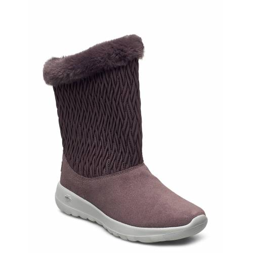 Skechers Womens On-The-Go Joy - Snow Bunny Shoes Boots Ankle Boots Ankle Boot - Flat Pink SKECHERS Pink 37,36