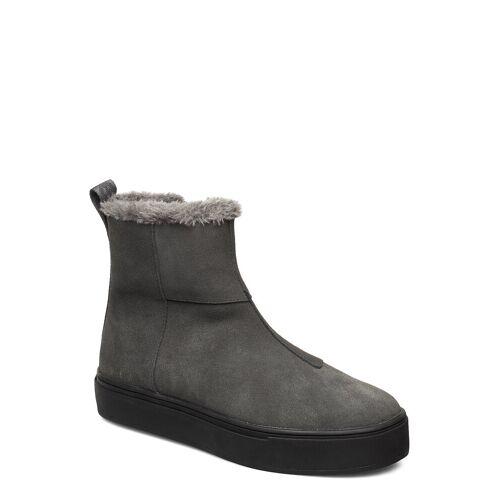SVEA Suede / Pile Boots Shoes Boots Ankle Boots Ankle Boot - Flat Grau SVEA Grau 39,38,37,40,41,36