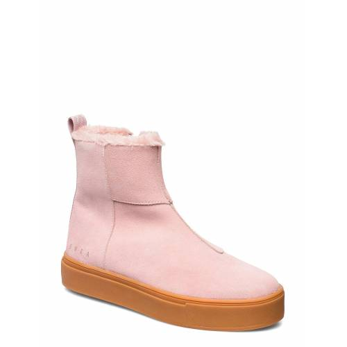 SVEA Suede / Pile Boots Shoes Boots Ankle Boots Ankle Boot - Flat Pink SVEA Pink 39,38,40,37,36,41