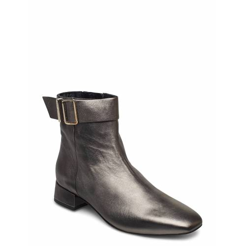 Tommy Hilfiger Metallic Square Toe Mid Boot Shoes Boots Ankle Boots Ankle Boot - Heel Silber TOMMY HILFIGER Silber 40,39,37,38,41