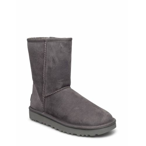 Ugg W Classic Short Ii Shoes Boots Ankle Boots Ankle Boot - Flat Grau UGG Grau 37,36