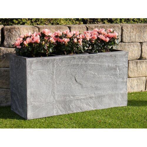 Pflanztrog ROCKS wie Naturstein, grau 80x30x40 cm