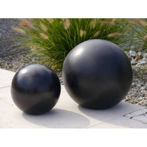 Dekokugel zu Pflanzkübel Blumenkübel; D = 20cm, edel-schwarz