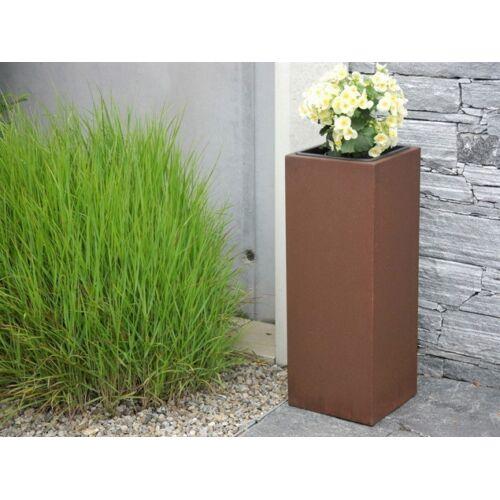 Pflanzkübel aus Cortenstahl, rostfarben - Größe (LxBxH): 30x30x60