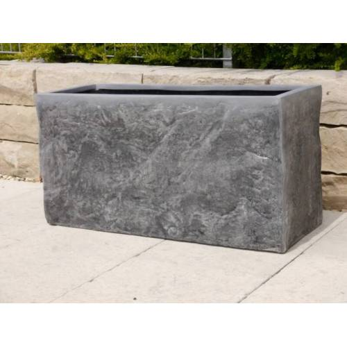 B Ware- Pflanzkübel Pflanzgefäße aus Fiberglas wie orig. Naturstein, 80x30x40cm