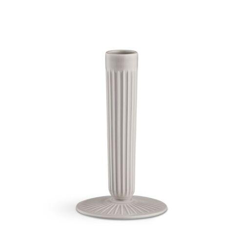 Kähler Design Kähler Hammershøi Kerzenhalter - Light Grey - Höhe 16 cm - Ø 9 cm
