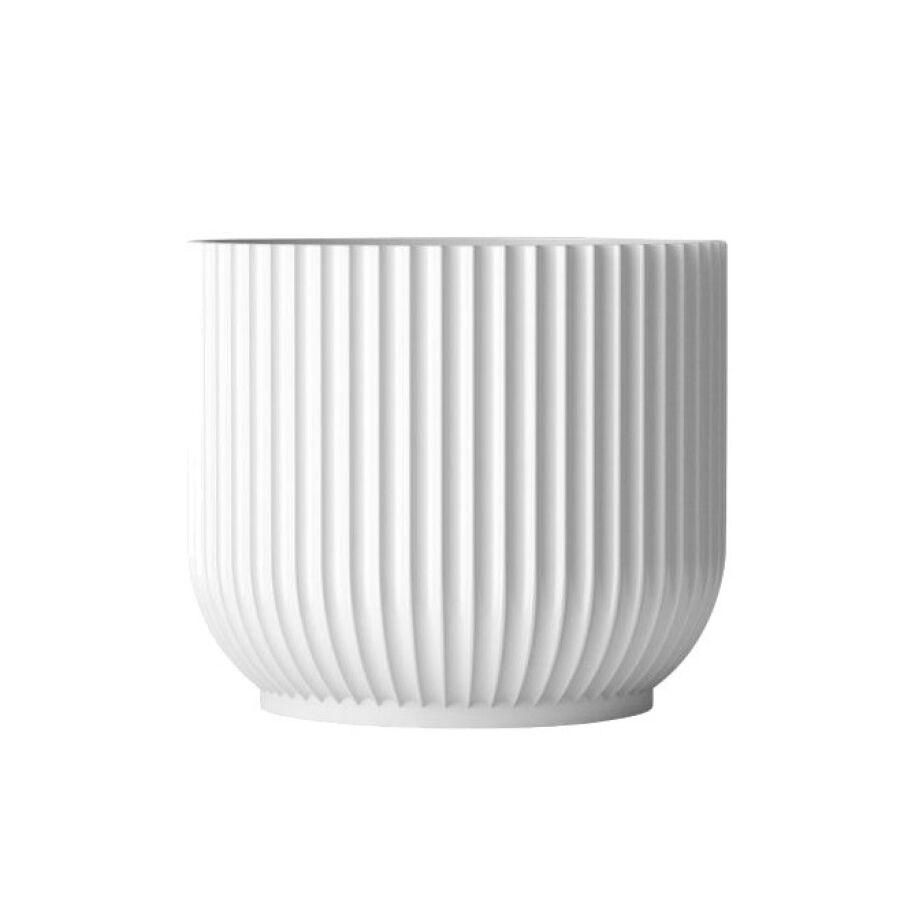 Lyngby Porcelaen Lyngby Porcelæn Lyngby Übertopf - weiss - Höhe 17 cm - Ø 17 cm