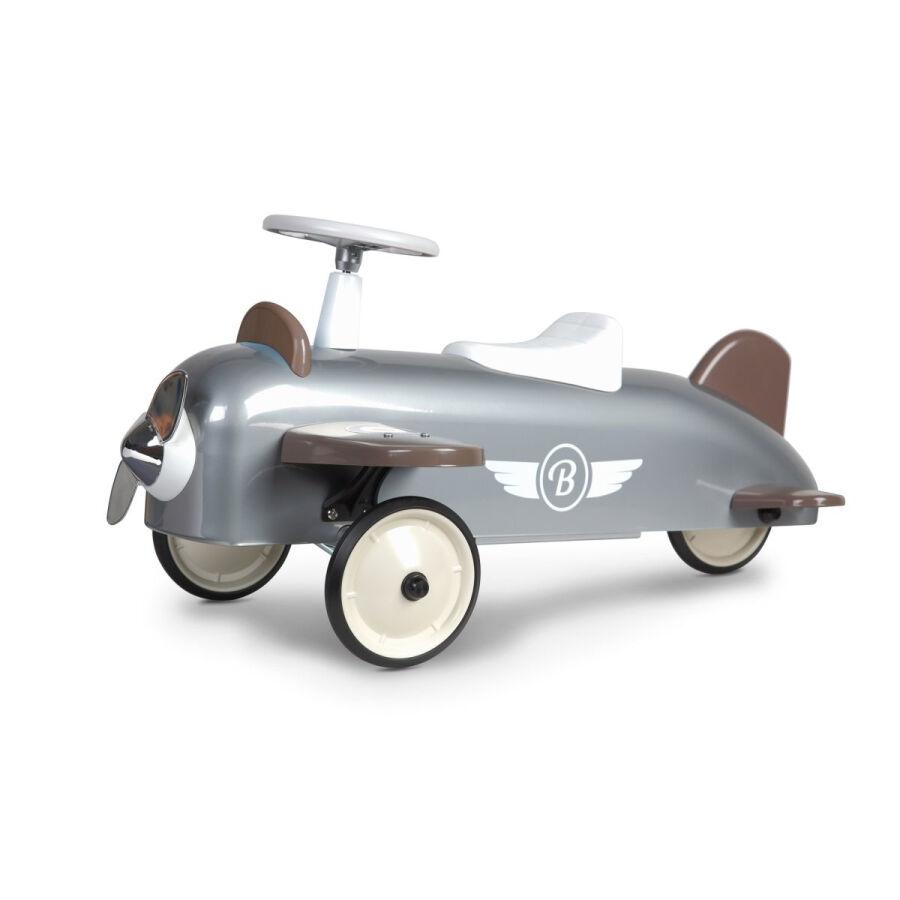 Baghera Speedster Plane Rutschauto - silver - 75x25x37 cm