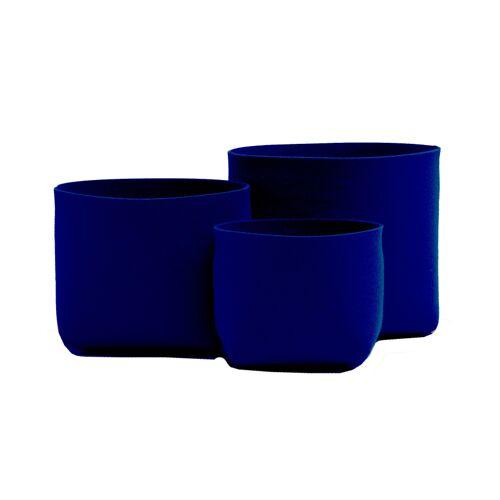 SiGN HEY-SIGN SILO ÜBERTOPF aus Naturfilz - dunkelblau - Höhe 22,5 cm - Ø 25 cm