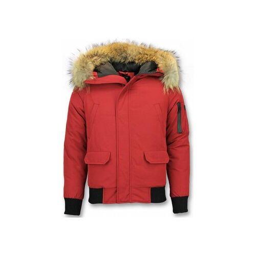 Enos  Herren-Jacke Kurze Winterjacke Pelzkragen Echtfell Jacke Canada EU S;EU M;EU L;EU XL;EU XS