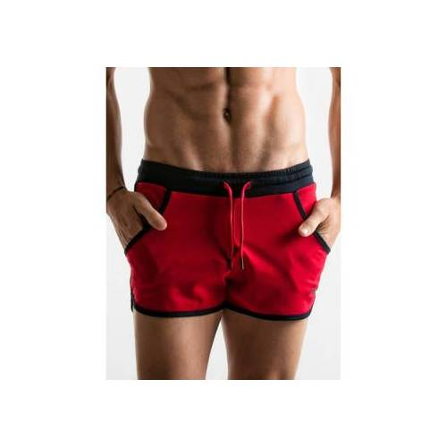 Code 22  Shorts Mini-Shorts rot Lochkamera EU L