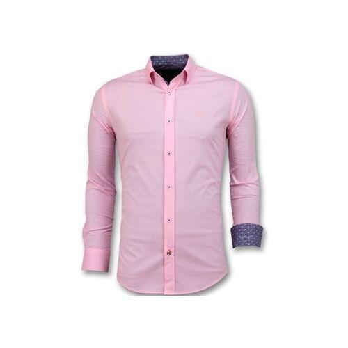 Tony Backer  Hemdbluse Italienische Bluse Pink EU XXL;EU S;EU M;EU L;EU XL;EU 3XL