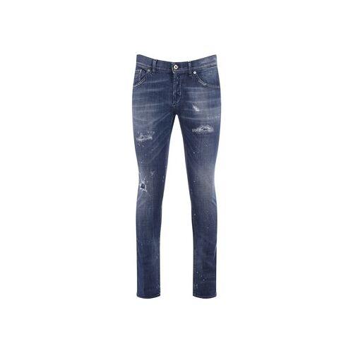 Dondup  Slim Fit Jeans Jeans Richie Blau mit Rissen US 33;US 34;Unique