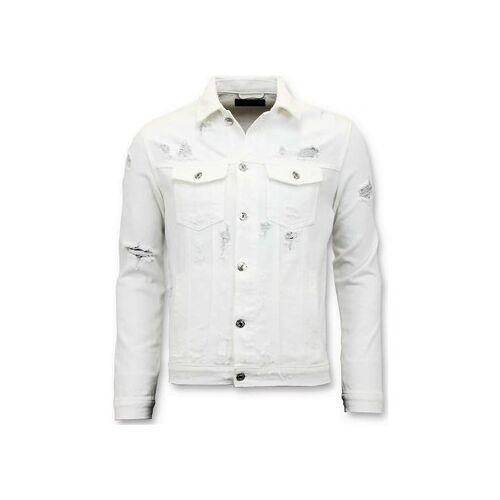 Enos  Jeansjacken Denim Jacket Zerrissene Denim Weiss EU XXL;EU S;EU M;EU L;EU XL