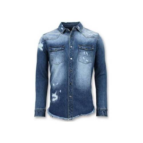 Enos  Hemdbluse Lange Denim Shirt Denim Bluse EU S;EU M;EU L;EU XL;EU XS