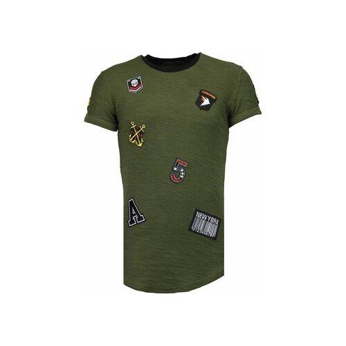Justing  T-Shirt Military Patches No. EU S;EU M;EU L