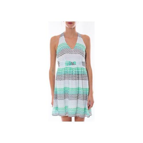 Vero Moda  Kleid robe MIAMI Barriolée Vert EU S;EU L