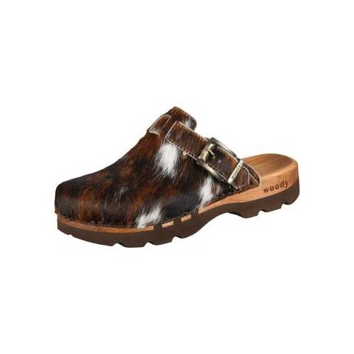 Woody  Clogs Offene Lukas 6911 natur Fell 6911 40;43;47