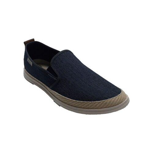 Muro  Hausschuhe Hanf Canvas Sneaker für Herren  blau 39;40;41;42;43;44;45;46