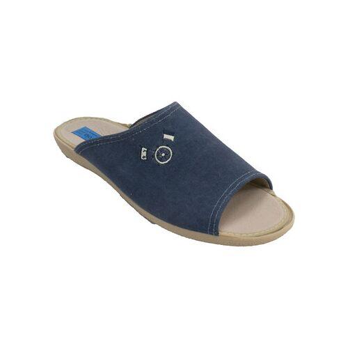Made In Spain 1940  Hausschuhe Herren Flip Flops Alberola marineblau 41;42;43;44;45;46