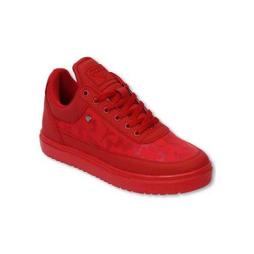 Cash Money  Sneaker Sneaker Low Camouflage Side Case Army Full Red 40;41;42;44