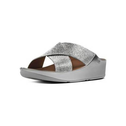 FitFlop  Pantoffeln CRYSTALL TM SLIDE - SILVER CRYSTAL 40;41