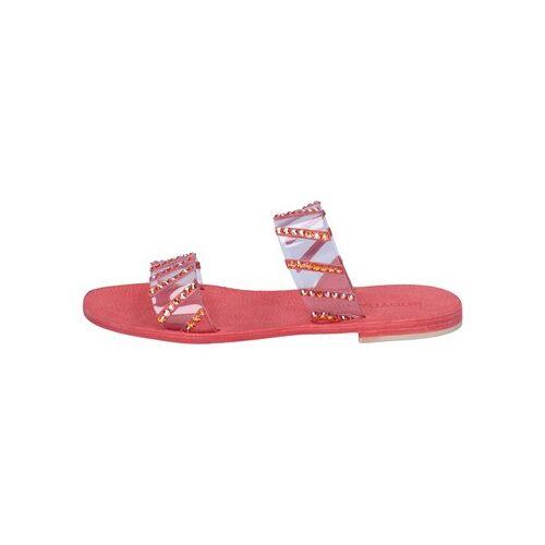 Eddy Daniele  Sandalen sandalen rot Kunststoff swarovski aw463 37
