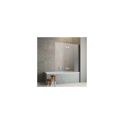 GEO Produkte GmbH GEO Flaconi Badewannenaufsatz 2-teilig Profil schwarz Anschlag rechts