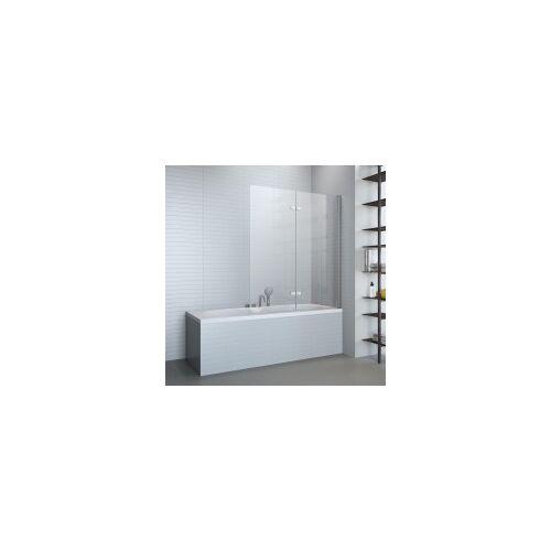 Badfaszination Basic Badewannenaufsatz 2-teilig Echtglas mit Beschichtung