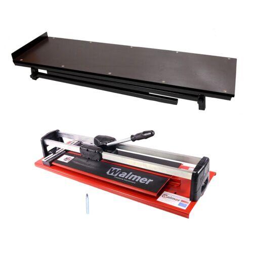 Walmer MGLR II 600 mm Fliesenschneider + 8 mm Schneidmesser + 10 mm Schneidmesser + Fliesenschneider Tisch