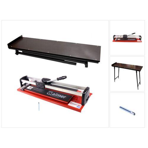 Walmer MGLR II 600 mm Fliesenschneider + 2x 8 mm Schneidmesser + Fliesenschneider Tisch