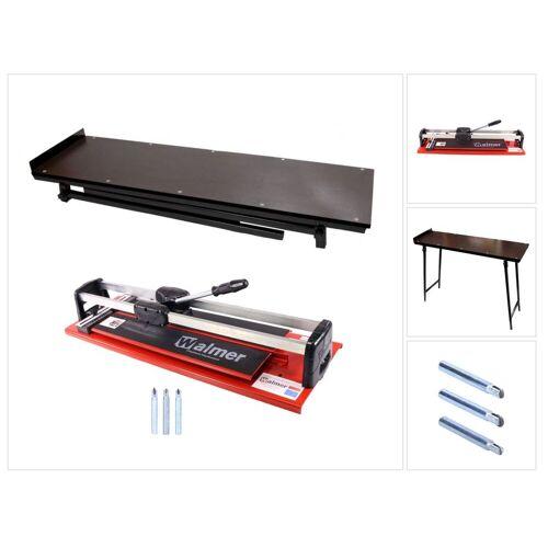 Walmer MGLR II 600 mm Fliesenschneider + Schneidmesser Set 8 / 10 / 12 mm + Fliesenschneider Tisch