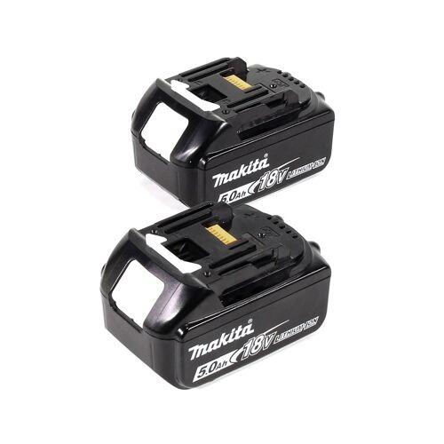 Makita DHR 281 TJ Brushless Akku Bohrhammer 28 mm 2x 18 V für SDS-PLUS mit Schnellwechselfutter im Makpac + 2x 5,0 Ah Akku - ohne Ladegerät