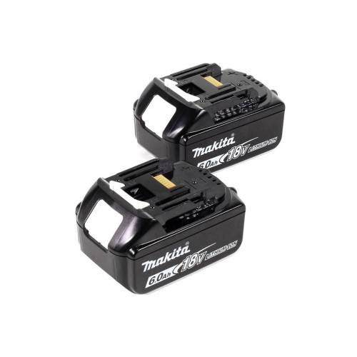 Makita DHR 281 GJ Brushless Akku Bohrhammer 28 mm 2x 18 V für SDS-PLUS mit Schnellwechselfutter im Makpac + 2x 6,0 Ah Akku - ohne Ladegerät