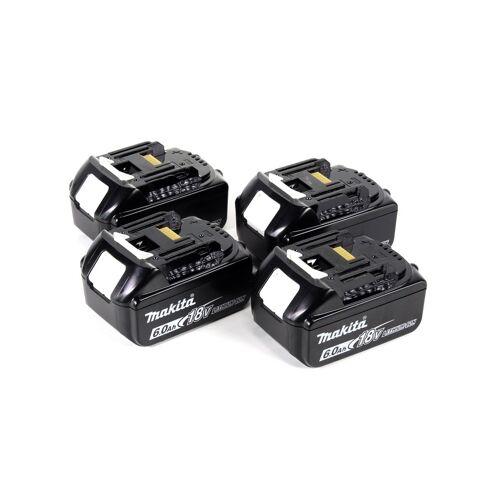 Makita DHR 281 G4J Brushless Akku Bohrhammer 28 mm 2x 18 V für SDS-PLUS mit Schnellwechselfutter im Makpac + 4x 6,0 Ah Akku - ohne Ladegerät
