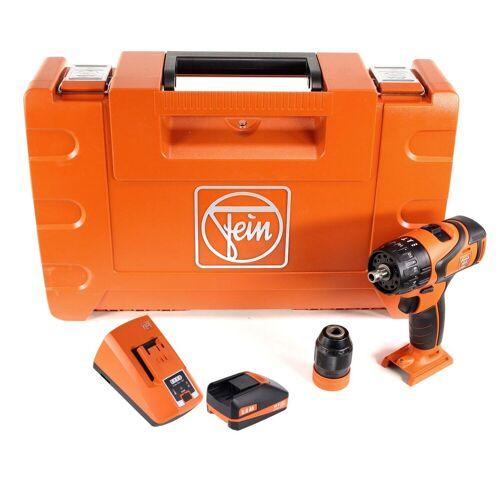 FEIN ABS 18 Q Akku Bohrschrauber 18V 60Nm QuickIN Bohrfutter ( 71132264000 ) Set in Koffer mit 3,0 Ah Akku und Lader