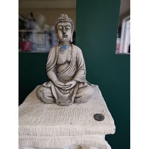 dsf Gartenfigur Buddha klein weiß